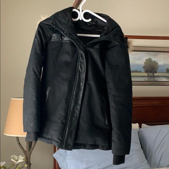 Danier Jackets & Blazers - Danier bomber style fur/leather jacket
